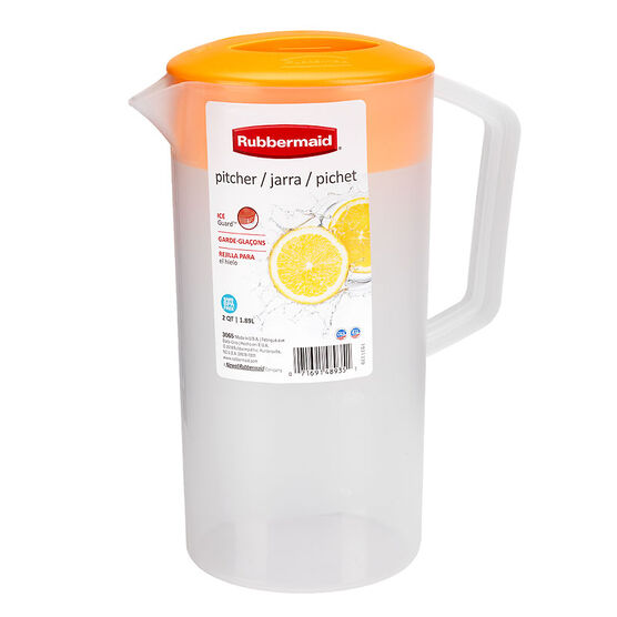 Rubbermaid Durable Pitcher - Clementine - 1.89L