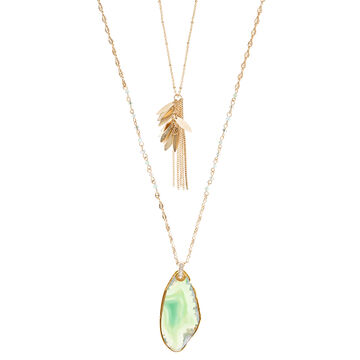 Lonna & Lilly 34/22-inch 2-in-1 Necklace - Green
