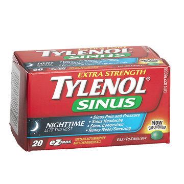 Tylenol* Sinus Extra Strength Nighttime - 20's