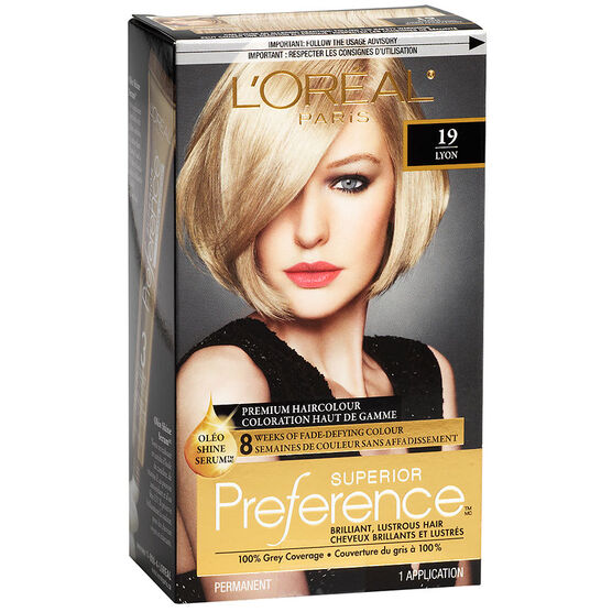 L'Oreal Superior Preference Fade-Defying Colour & Shine System - 19 Light Ash Blonde