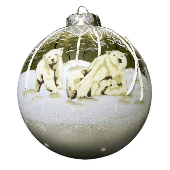 Christmas Forever Polar Bears Ornament - XM-BG1943