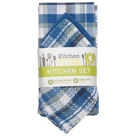 Kitchen Style Kitchen Set - Blue - 4 piece