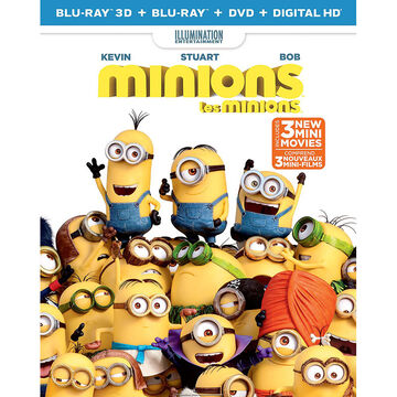 Minions - Blu-ray 3D + Blu-ray + DVD