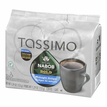 Tassimo Nabob Coffee Pods - Bold Midnight Eclipse - 12 servings