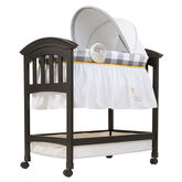 Bentwood Bassinet with Motion - Chevron Leaf