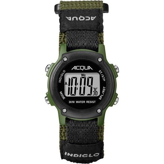 Timex Acqua Digital Watch - Black/Green - A3C74070