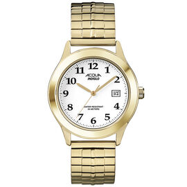 Timex Acqua Men's Quartz Analogue Watch - White/Gold - A3C47870