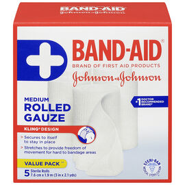 Johnson & Johnson Band-Aid Rolled Gauze - 7.6cm x 1.9m