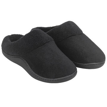 Isotoner MicroTerry Low Back Clog Slipper - Black - Extra Large