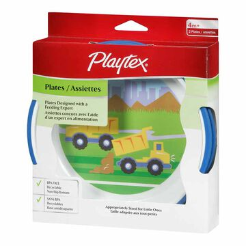 Playtex Non-Slip Plates - 6 months+ - 2 pack