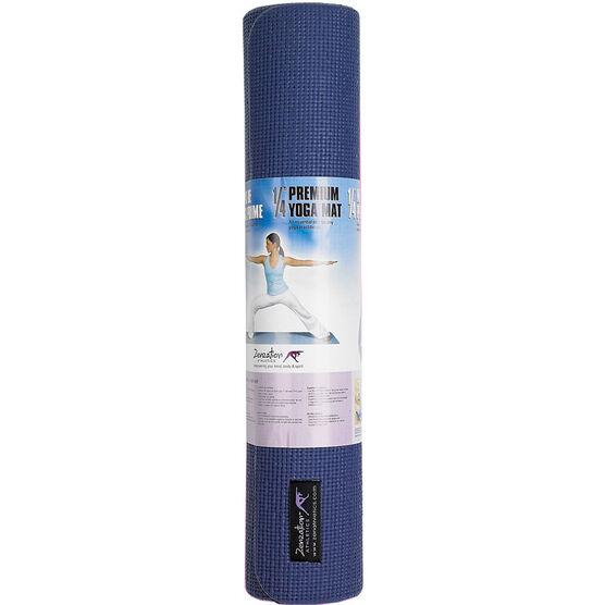 Zenzation Premium 1/4-inch Extra Thick Yoga Mat - Blue
