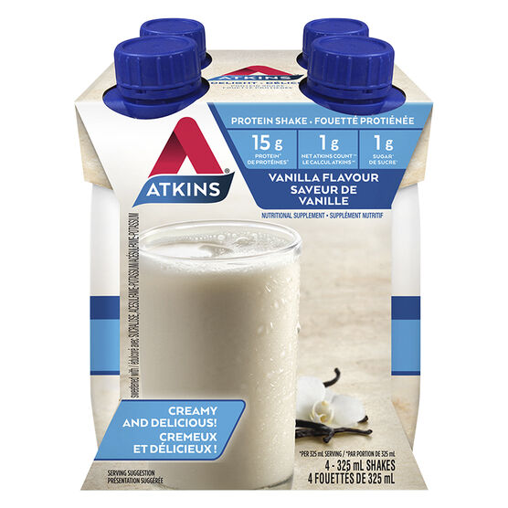 Atkins Advantage Ready To Drink Shake - Vanilla - 4 x 325ml