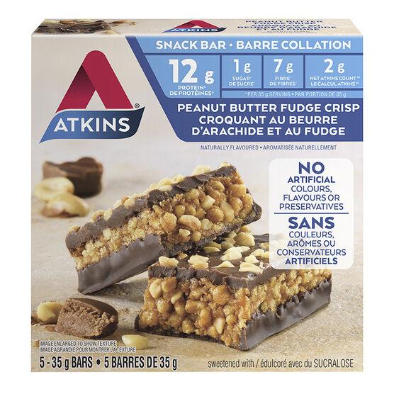 Atkins Day Break Bar - Peanut Butter Fudge Crisp - 5 x 35g