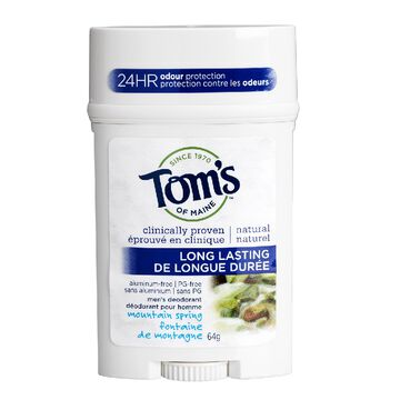 Tom's of Maine Long Lasting Men's Deodorant Stick - Mountain Spring - 64 g