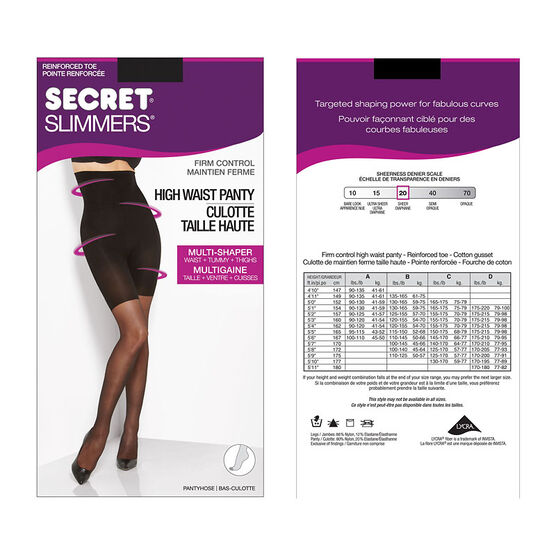 Secret Slimmers Firm Control - C - Black