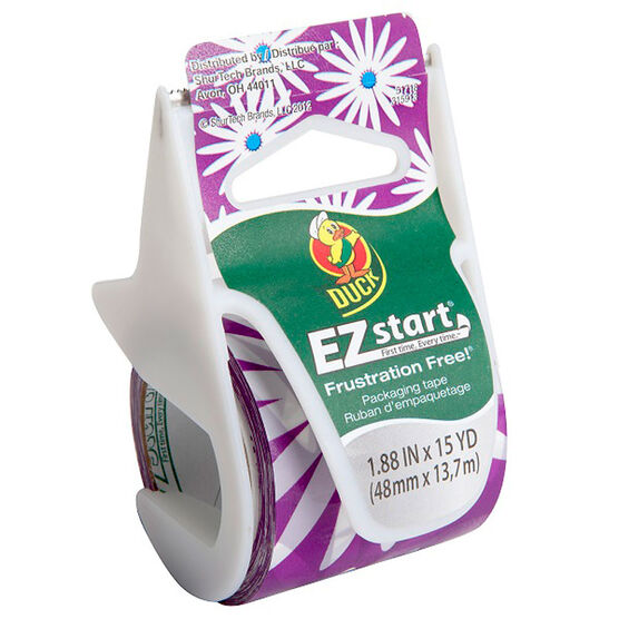 Duck Purple Daisy Ez Start Packaging Tape - 48mm x 50m