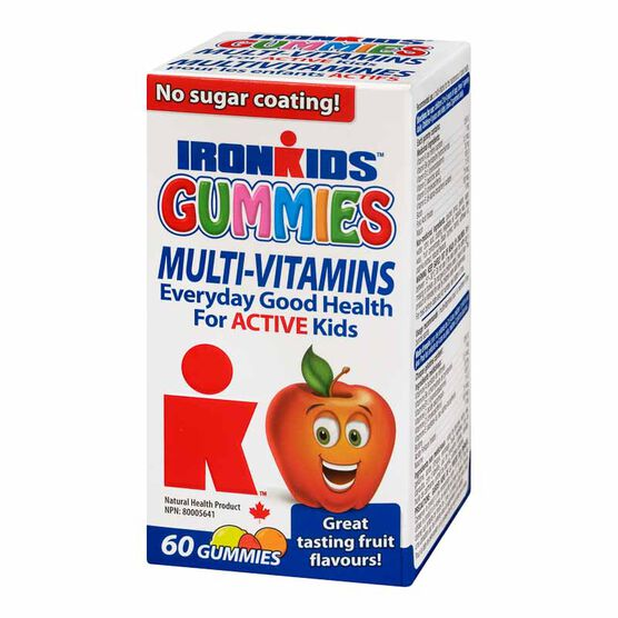 IronKids Gummies Mult-Vitamins for Active Kids - 60's