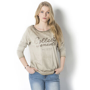 Lava Collect Long Sleeve Tee - Beige - L-PEPEPE