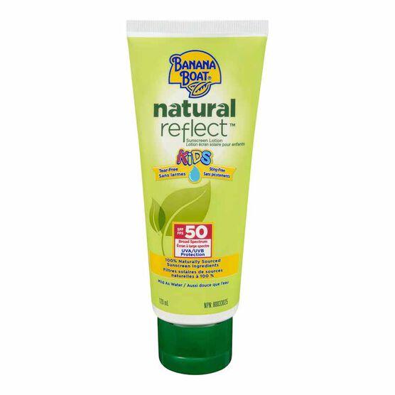 Banana Boat Natural Reflect Kids Sunscreen Lotion Spf 50