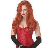 Halloween Silver Sinsation Wig - Red