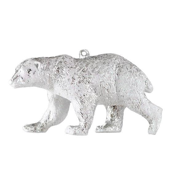 Christmas Forever Bear Ornament - Silver/White - XM-MS1365