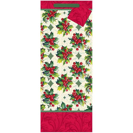 Christmas Tall Gift Bag - Holly Berry