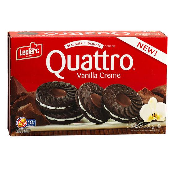 Leclerc Quattro Cookies - Vanilla Cream - 300g
