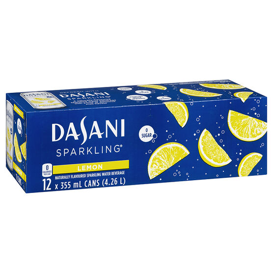 Dasani Sparkling Water - Lemon - 12 x 355ml