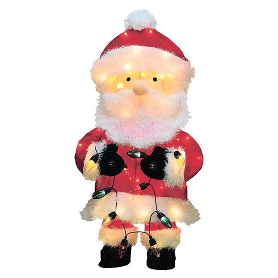 Whimsical Pre-Lit 2D Santa - 28in - 66757-L28