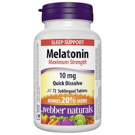 Webber Naturals Melatonin - 10mg - 60's
