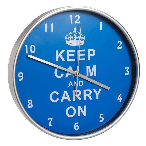 London Drugs Wall Clock - Blue - Keep Calm