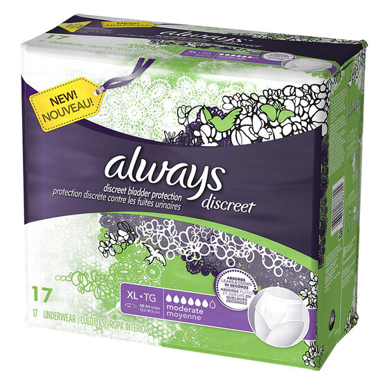 Always Discreet Underwear Moderate - Extra Large  - 17's