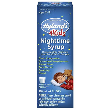 Hyland's Nighttime Cold'n Cough 4 Kid - 118 ml