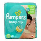 Pampers Baby Dry Diapers - Size 4 - 28's