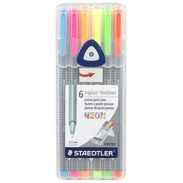 Staedtler Triplus Fineliner - Neon - 6 Pack