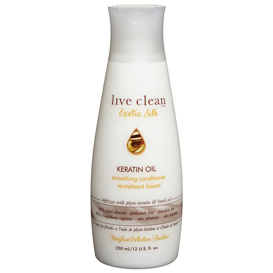 Live Clean Keratin Oil Smoothing Conditioner - 350ml