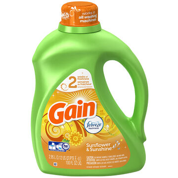 Gain Liquid HE Liquid Laundry Detergent - Sunshine - 2.95L/48 use