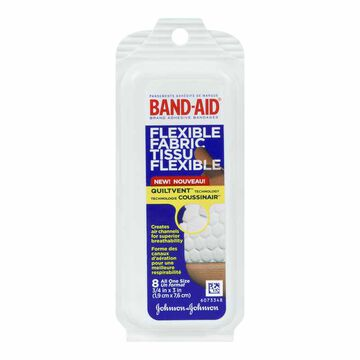 Johnson & Johnson Flexible Fabric Band-Aid - Travel Pack - 8's