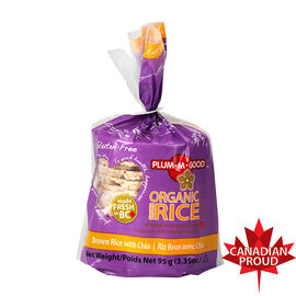 Plum-m-Good Organic Rice Cakes - Brown Rice with Chia - 95g