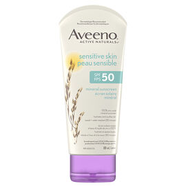 Aveeno Sensitive Skin Mineral Sunscreen - SPF50 - 89ml
