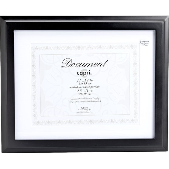 KG Oxford 11x14/8.5x11 Document Frame - Black