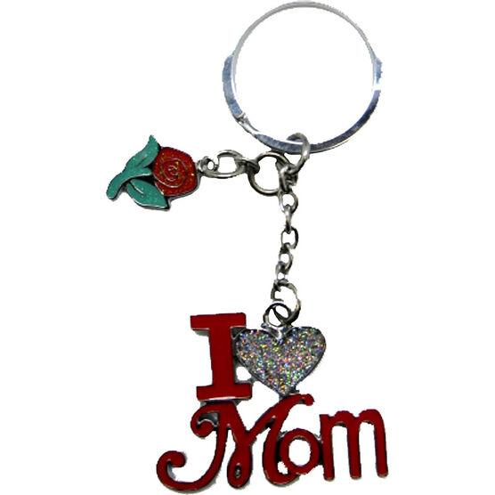 Valentine's I Love Mom Key Tag