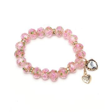 Betsey Johnson Flower Beaded Bracelet - Pink