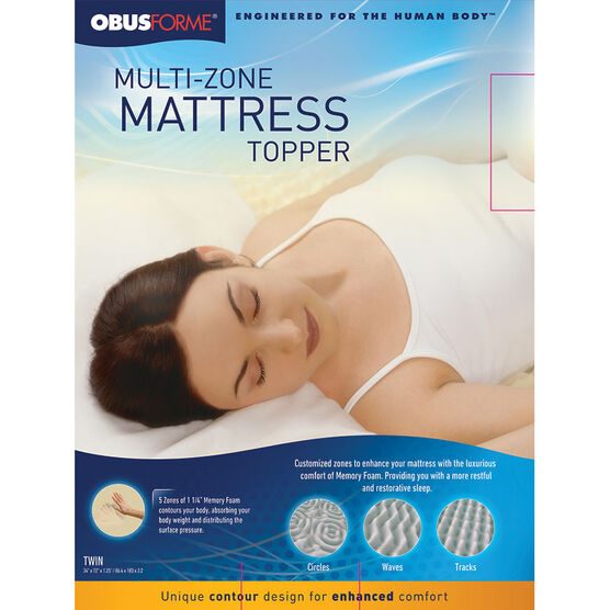 ObusForme Multi Zone Mattress Topper - Twin