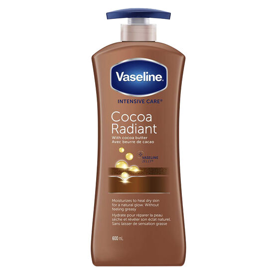 Vaseline Intensive Care Cocoa Radiant Lotion with Pure Cocoa Butter - 600ml