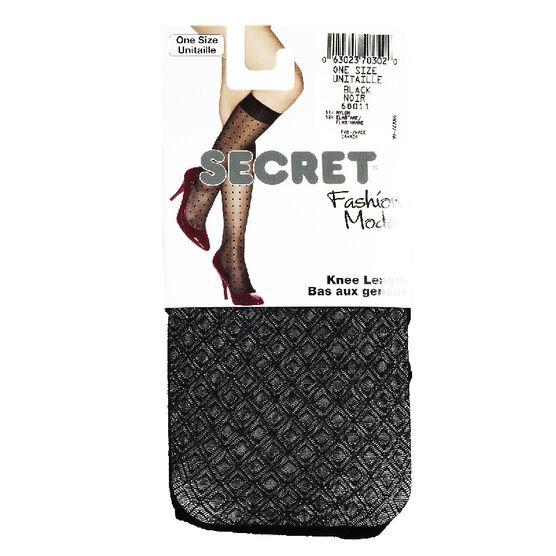 Secret Deluxe Large Sheer Fishnet Trouser Socks - Black