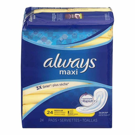 Always Maxi Pads - Unscented - 24's