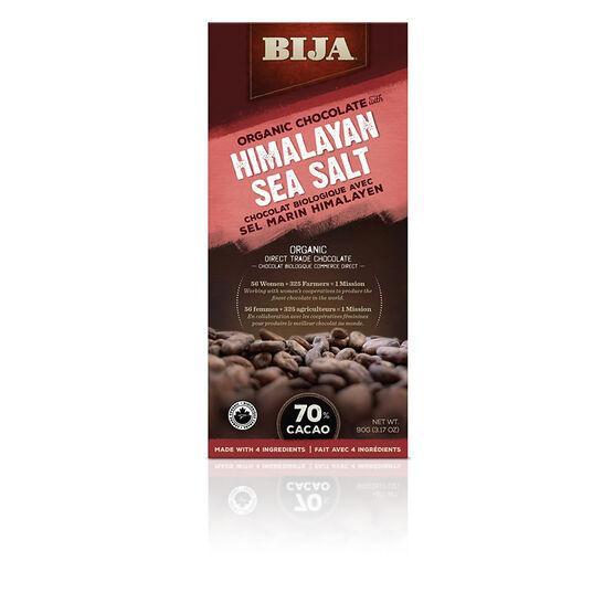 Bija Organic Chocolate - Himalayan Sea Salt - 90g