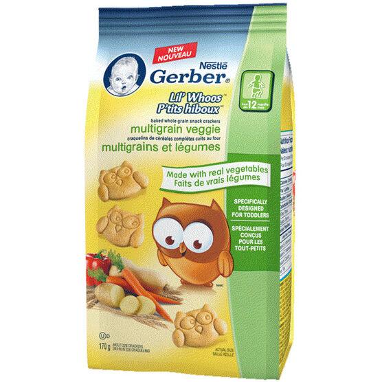 Gerber Lil Whoos Mutlitgrain  Veggie Cracker - 170g
