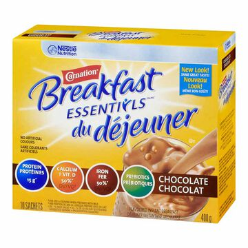 Nestle Carnation Breakfast Anytime - Chocolate - 10 x 40g
